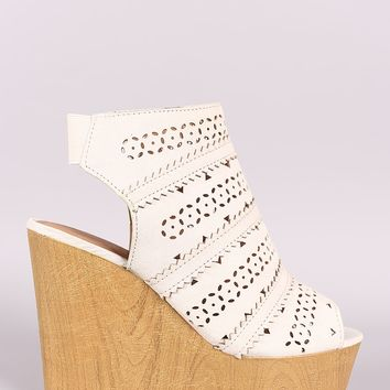 Cupid Wooden Platform Wedge