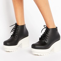 Melissa Stellar Platform Lace Up Ankle Boots