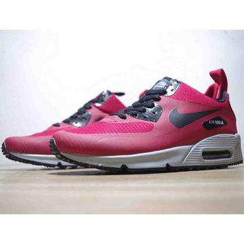 NIKE AIR MAX 90 MID high tops classic running shoes F-CSXY rose red