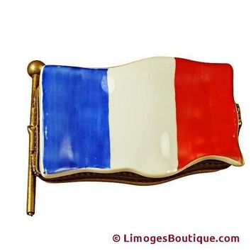 FRENCH FLAG LIMOGES BOXES