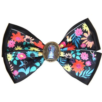 Licensed cool Disney Alice In Wonderland Keyhole Floral Bow Tie Hair Clip Pin Cosplay Dress UP