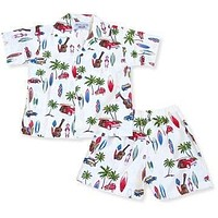 beach time white hawaiian boy cabana set