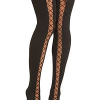 Lace Up and Away Tights | Mod Retro Vintage Tights | ModCloth.com