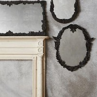 Handcarved Menagerie Mirror by Anthropologie in Black Motif Size: