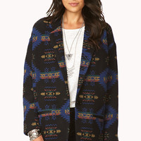 Oversized Southwestern Bound Coat