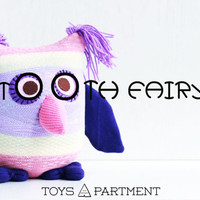 Personalized Owl purple Tooth Fairy Pillow - for kids  Ready to Ship