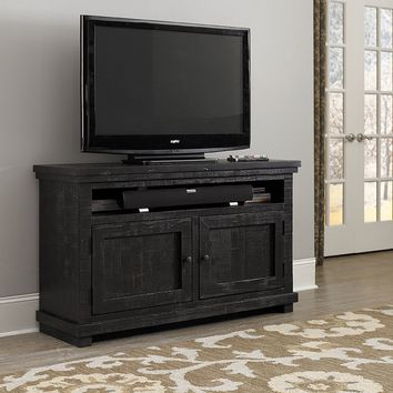 Willow Casual 54 Inch Console Distressed Black