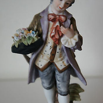 "Vintage Lefton China ""Victorian Man"" 1950's Figurine No. KW5820, Hand Painted"