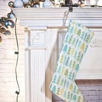 Heather Dutton Oh Christmas Tree Frost Stocking