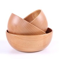 Light Wood Dinning Bowls