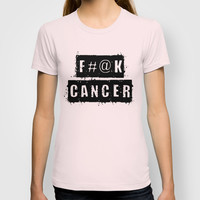 F@#K Cancer T-shirt by Retro Designs
