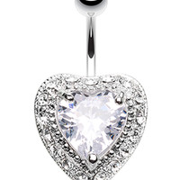 Heart Extravagant Belly Button Ring