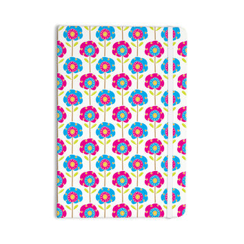 "Apple Kaur Designs ""Lolly Flowers"" Blue Pink Everything Notebook"