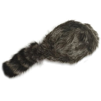 Davy Crockett and Daniel Boone Real Tail Raccoon Hat Adult Size