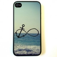 Infinity Anchor iPhone 4 Case - For iPhone 4 4S 4G - Designer TPU Case Verizon AT&T Sprint:Amazon:Cell Phones & Accessories