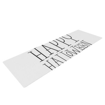 "KESS Original ""Happy Halloween - White"" Yoga Mat"