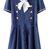 School Chic Navy Sailor Dress - OASAP.com