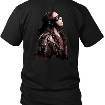 Lil Wayne Cover Art Illustrations Dreaming 2 Sided Black Mens T Shirt