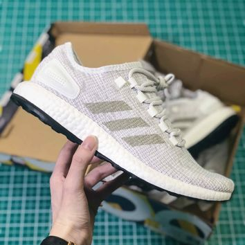 Adidas Pure Boost All Terrain White Sport Running Shoes - Best Online Sale