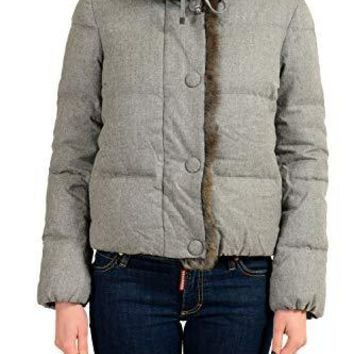 Moncler ADONIDE Women's Fur Collar Wool Down Parka Jacket Moncler Sz 1 US S