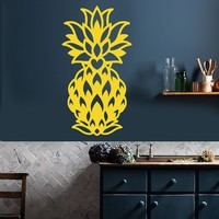Vinyl Wall Decal Abstract Pineapple Exotic Fruit Food Decor for Kitchen Stickers Unique Gift (1955ig)
