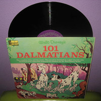 Vinyl Record Album Disney's 101 Dalmations Original Soundtrack Story and LP 1965 Children's Classics