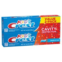Crest Kids Cavity Protection Toothpaste Sparkle Fun Flavor 9.2 oz