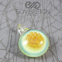 Slime Glass Pendant by SAF Glass