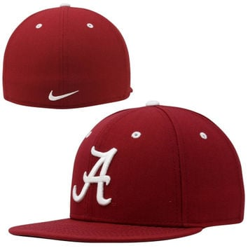 Nike Alabama Crimson Tide True Colors Authentic Performance Fitted Hat - Crimson