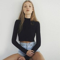 Ava Turtleneck Crop Top