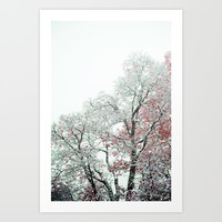 White Tree Art Print by Wowpeer
