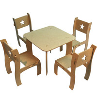 Unfinished MDF Wood 18 inches Doll Dining Room Set