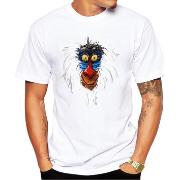 Rafiki Lion King Men's Short Sleeve Casual White T-Shirt