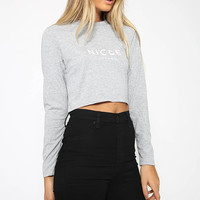Nicce - Aruna Top - Grey