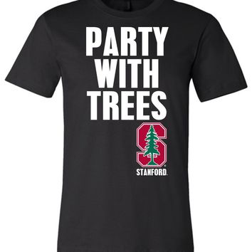 Official NCAA Stanford University Cardinal SU The Stanford Tree ALL RIGHT NOW! Party With Trees Unisex T-Shirt - stan1012