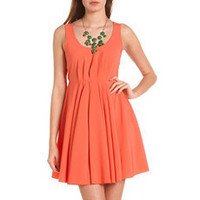 Tie-Back Babydoll Dress: Charlotte Russe