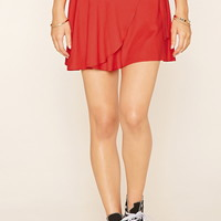 Side-Tie Mini Wrap Skirt