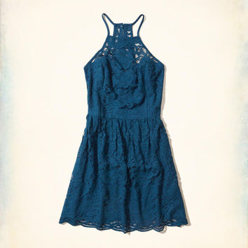 Girls High-Neck Lace Dress | Girls New Arrivals | HollisterCo.com