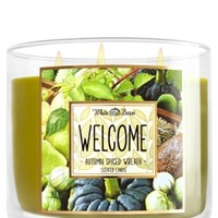3-Wick Candle Welcome - Autumn Spiced Wreath