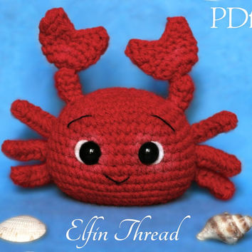 Elfin Thread - Crab Amigurumi PDF Pattern ( Crab  Crochet PDF Pattern)