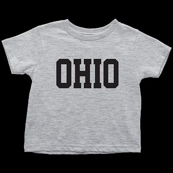 Ohio Jersey Font Toddler T-Shirt
