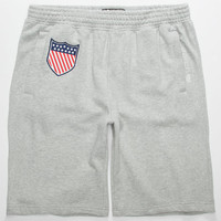 Lrg Sams Army Mens Sweat Shorts Ash  In Sizes