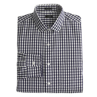 Slim non-iron spread-collar shirt in navy gingham - shirts - Men's New Arrivals - J.Crew