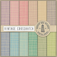 Vintage Crosshatch Digital Paper Pack | Scrapbook Paper | Printable Backgrounds | 12 JPG, 300dpi Files | BUY5FOR8