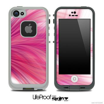 Pink Flowing Artistic Skin for the iPhone 5 or 4/4s LifeProof Case