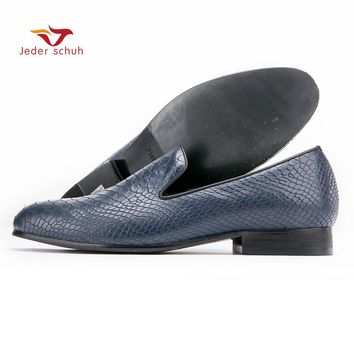 men loafers Leather shoes design simple box embossed wedding shoes