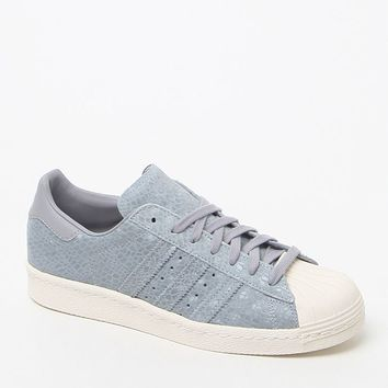 adidas Superstar 80's Gray Low-Top Sneakers - Womens Shoes - Gray