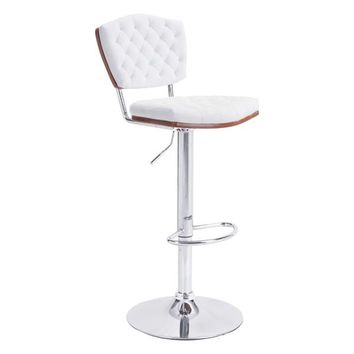 Tiger Bar Chair White Chromed Steel