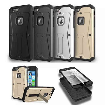Armor Dirt Shock WaterProof Metal Aluminum Stand Cell Phone Case For Samsung S6 S7 Note 5 LG G4 G5 iPhone 7 6 S Plus 5S SE Coque