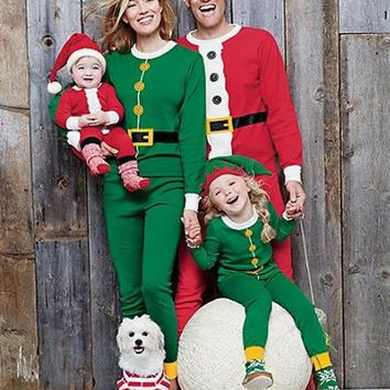 Christmas Family Pajamas Set Santa/ Elf Sleepwear Nightwear